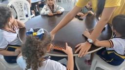 Aula do método Super Cérebro com o Infantil V