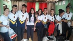 Ação Solidária realizada por alunos do Ens.  Médio