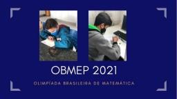 Alunos realizando a 1° fase da Olimpíada Brasileira de Matemática - OBMEP!
